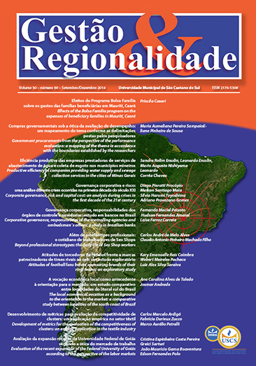 Capa da Revita Gestão & Regionalidade - v. 30, n. 90 (2014)