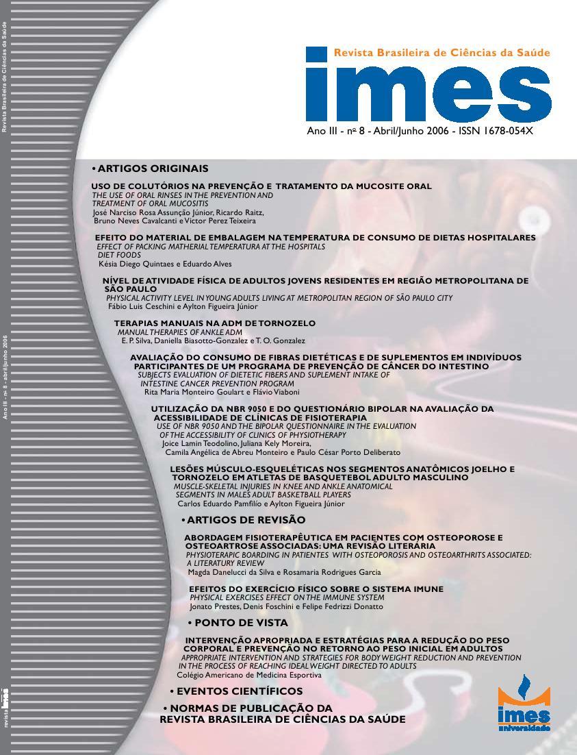 Visualizar v. 4 n. 8 (2006): Abril - Junho / 2006