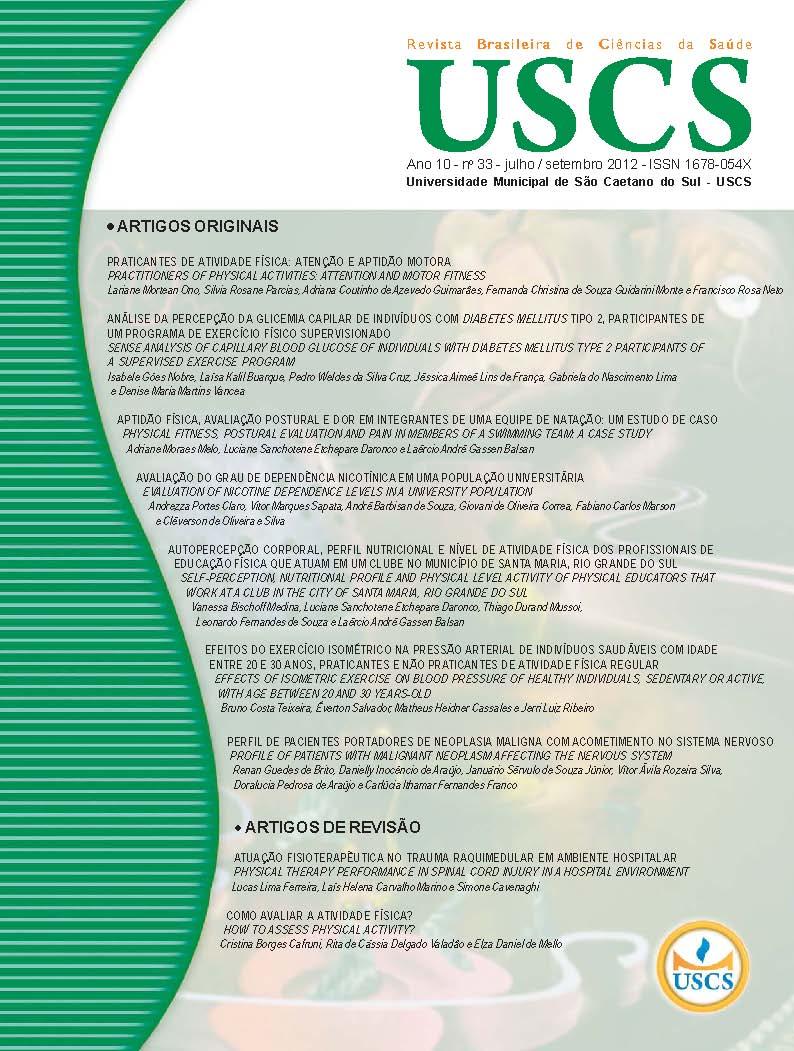 Visualizar v. 10 n. 33 (2012): Julho - Setembro / 2012